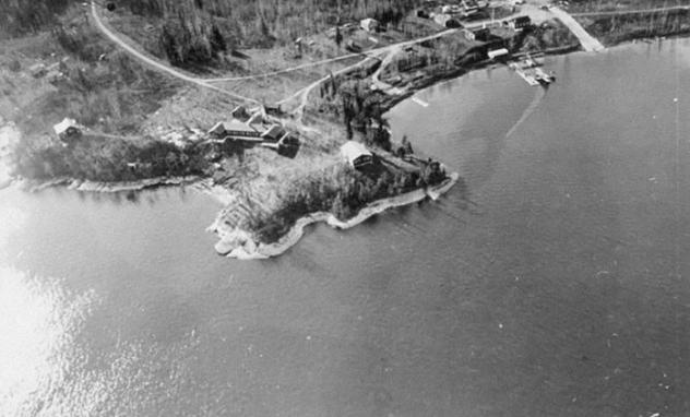 Aerial Photo of Lac Du Bonnet Base