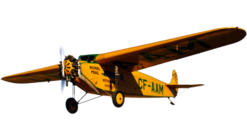 yellow CF-AAM aircraft close cut image