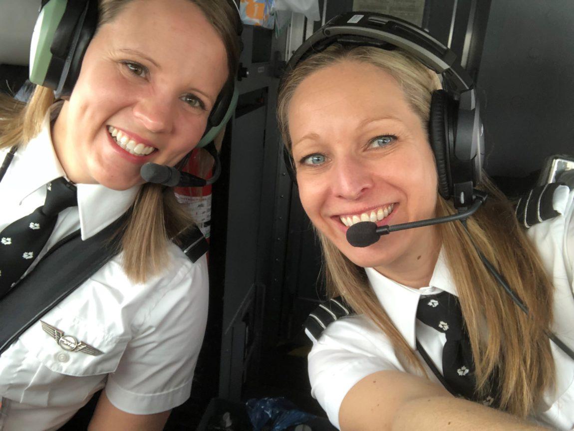 Captain Kristin Long in Cockpit