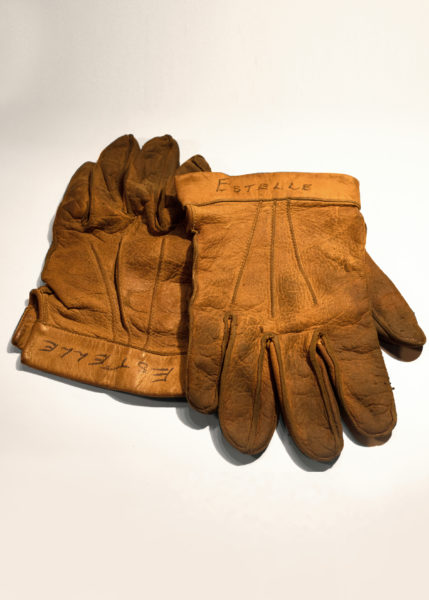 Museum artifact - Gloves worn by late restoration volunteer Estelle Eaton