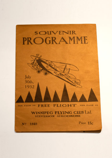 Museum artifact - 1932 Souvenir Programme from the Winnipeg Flying Club