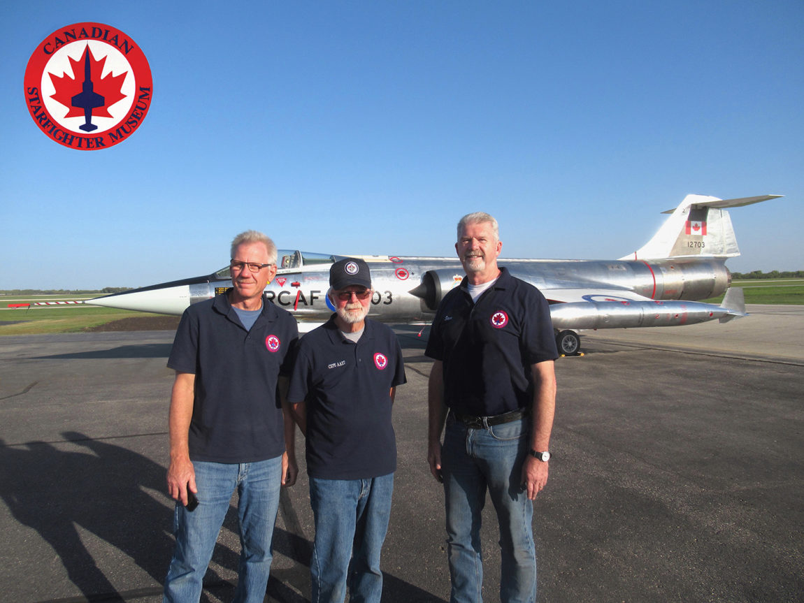 CF-104 Starfighter 12703 - Restoration Team - L to R Eric Groth, Al Holmberg and Steve Pajot