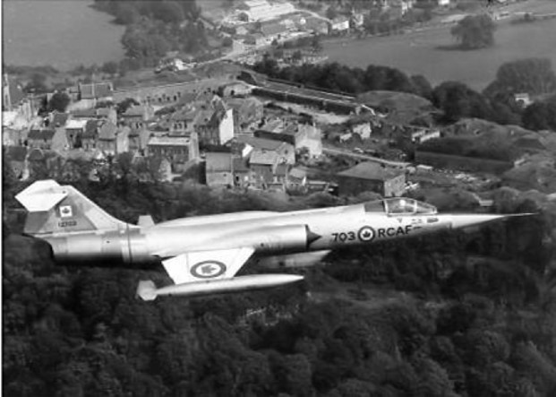 Starfighter in Service - Black and White
