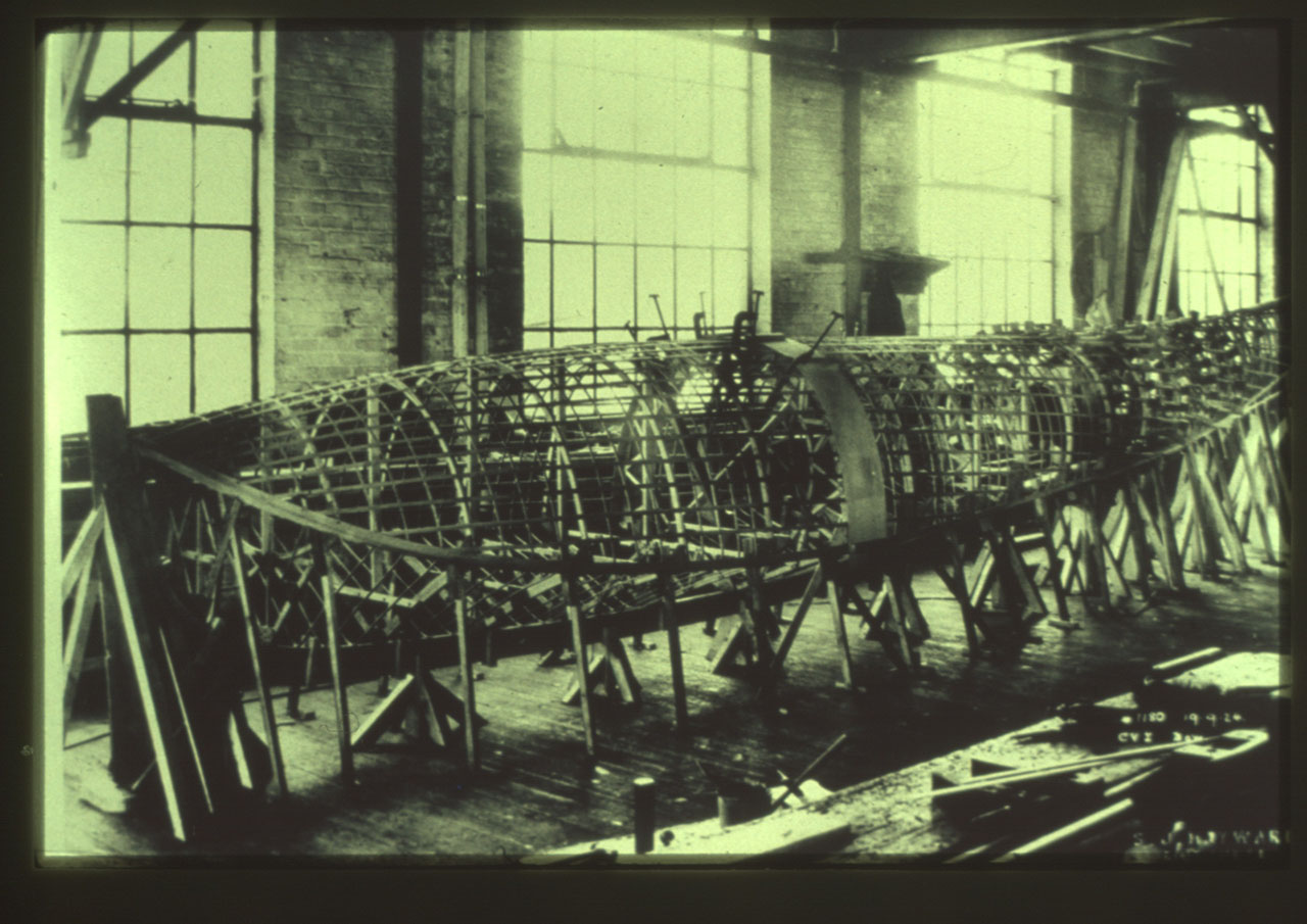 View of a Vedette at the Vickers Montreal plant