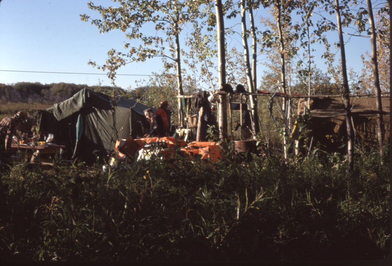Campsite, Doug, Gord, Bruce Emberly