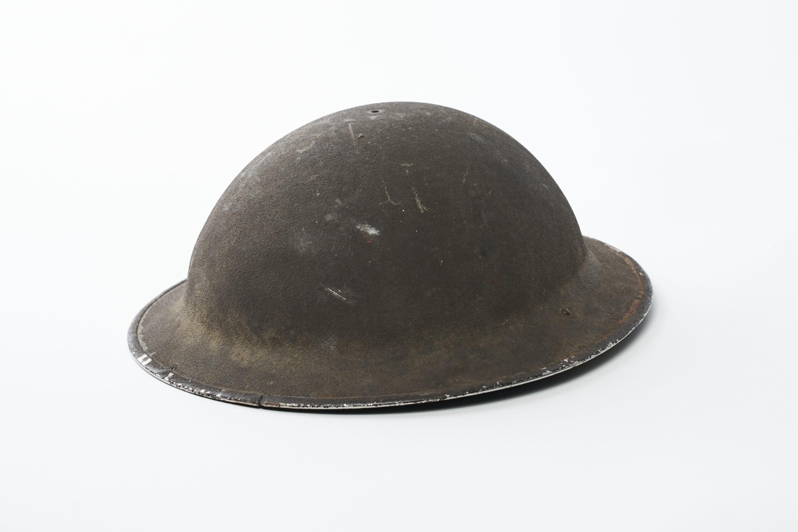 Mannifrank Brown's Second World War Helmet