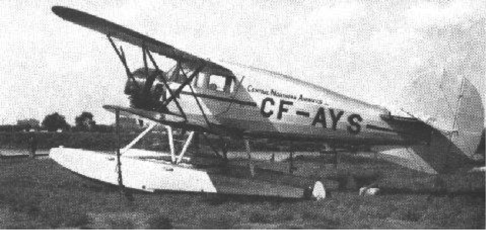 Figure 5 This photograph of CF-AYS in Central Northern Airways livery was taken at Winnipeg's Brandon Avenue water-base in 1935 (National Waco Club)